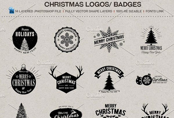 Merry Christmas Logos / Badges