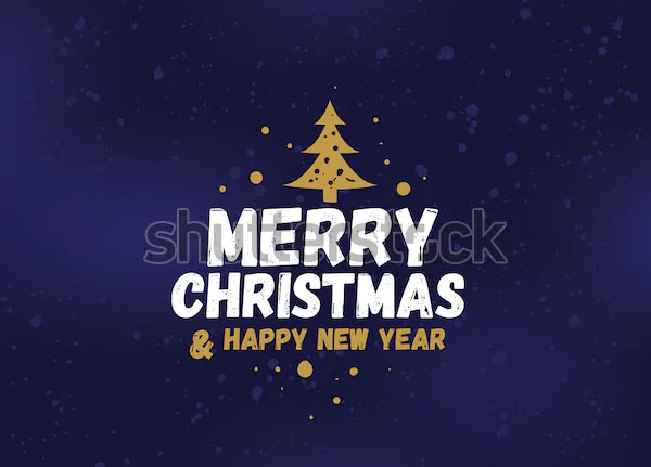 Merry Christmas Text Logo Design
