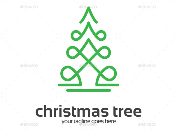Merry Christmas Tree Logo