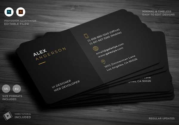 Minimal Individual Business Card