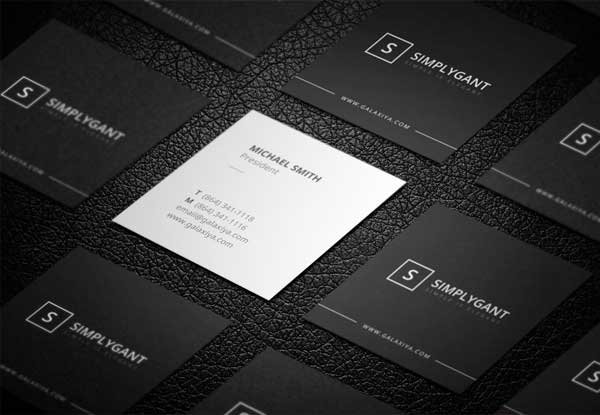 Minimal Square Business Cards