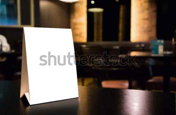 Mockup Empty White Table Tent