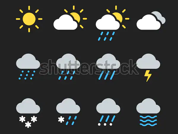 Modern Weather Icons Set