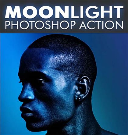 MoonLight Photoshop Poster Action