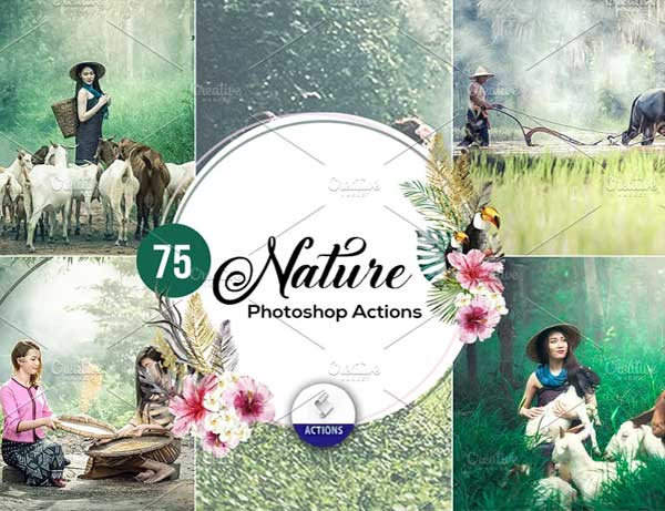 Nature HDR Photoshop Actions Template