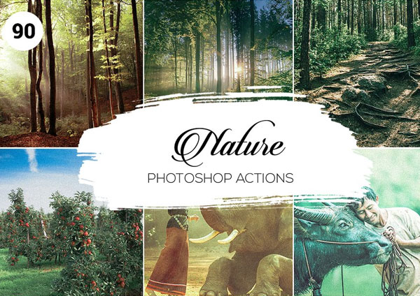 Nature Photoshop Actions Set Template