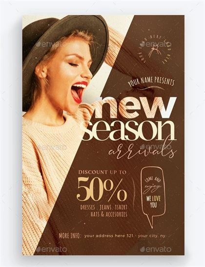 New Season Arrivals Flyer Template