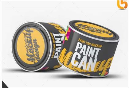 Oil Paint Can Mock-Up