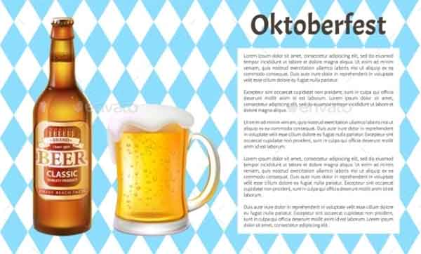 Oktoberfest Beer Bottle Poster