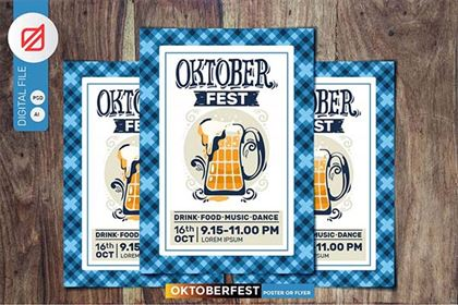 Oktoberfest Beer Party Posters Design
