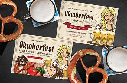 Oktoberfest Flyer and Poster PSD Template