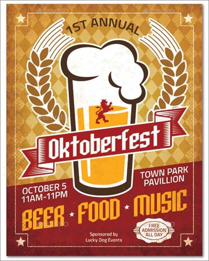 Oktoberfest Poster and  Ad, Flyer Template