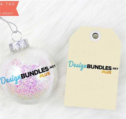 Ornament with tag mockups