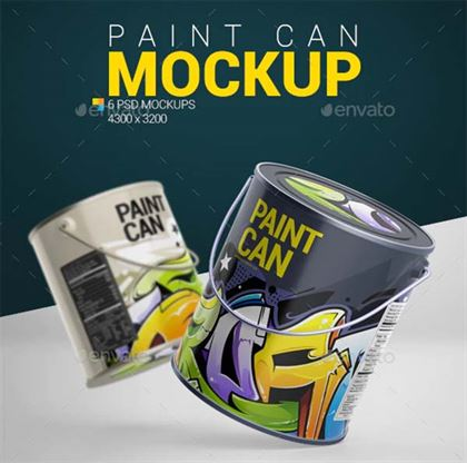 PSD Paint Can Mockup