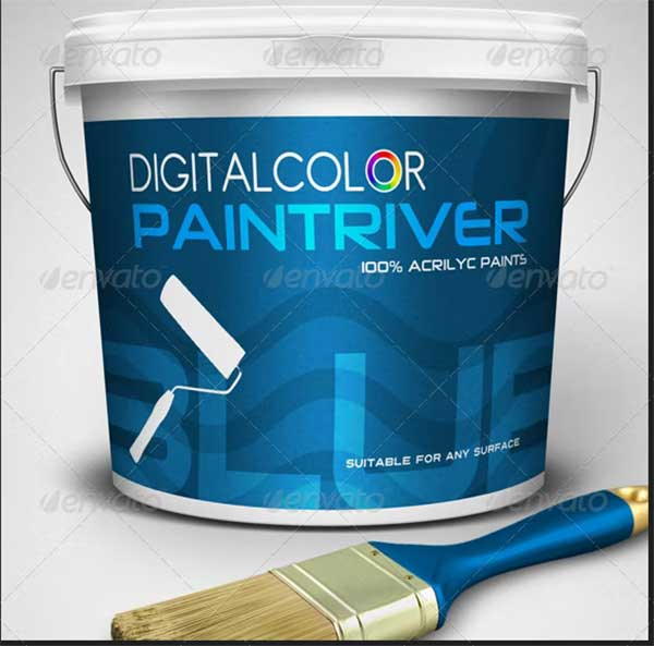 Paint Bucket Mockup Kit