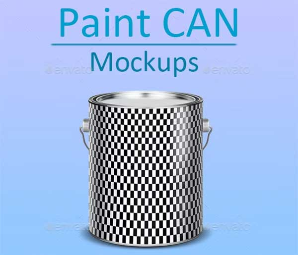 Paint Can PSD Mockup