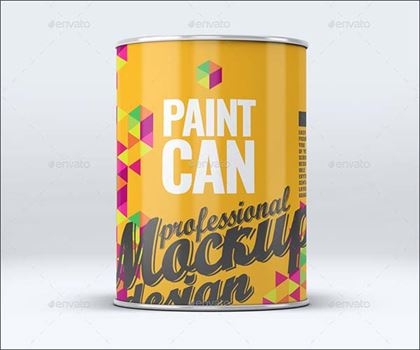 Paint Can Photoshop Mock-Up