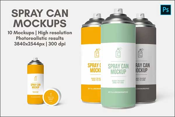 Painting Spray Can Mockups