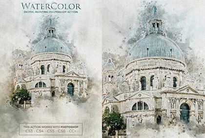 Paper Water Color Photoshop Action