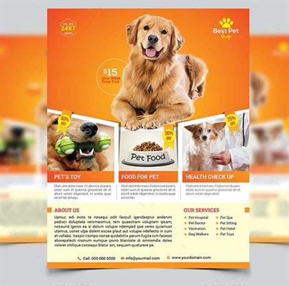 Dog Walking Flyer Template Free from www.templateupdates.com