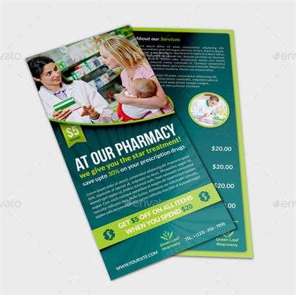 Pharmacy Flyer DL Template