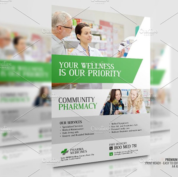 Pharmacy Flyer Design Template
