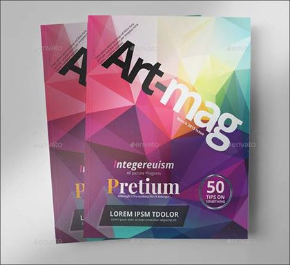 Photoshop Pages Art Magazine Template