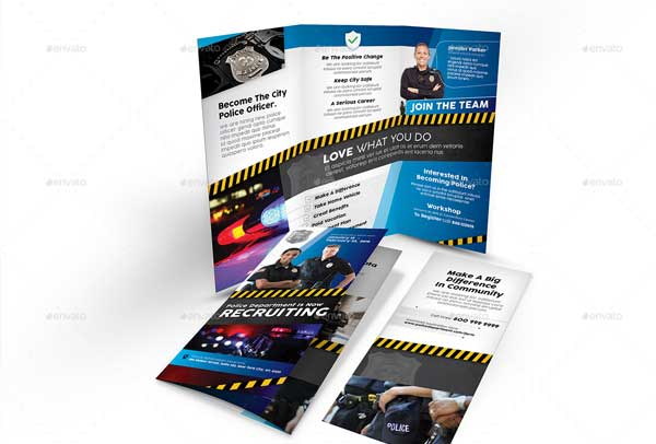 Police Recruitment Trifold Brochure