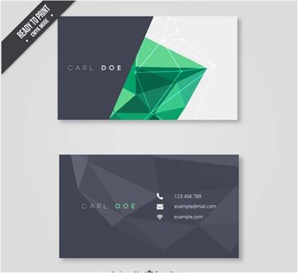 Polygon Free PSD Business Card Template