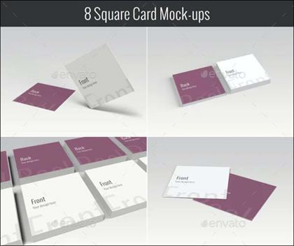 Print Square Business Card Mockups