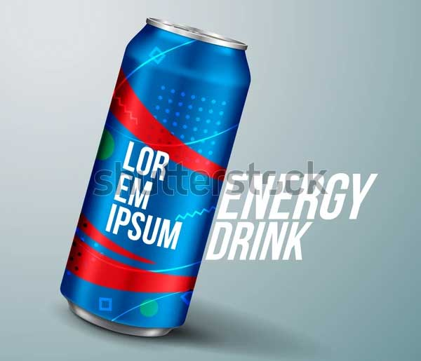 Printable Energy Drink Can Mockup
