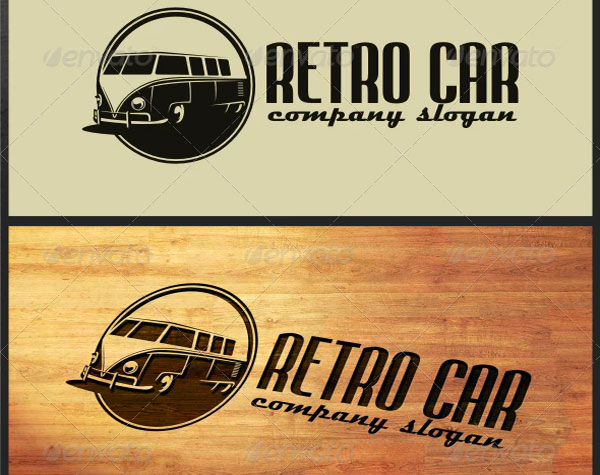 Printable Retro Car Logo Templates