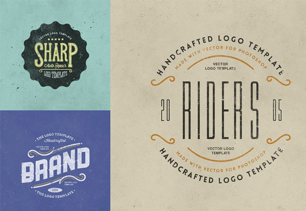 Printable Retro Logo Templates