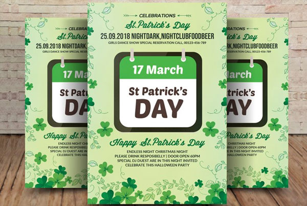 Printable St Patrick's Day Flyer