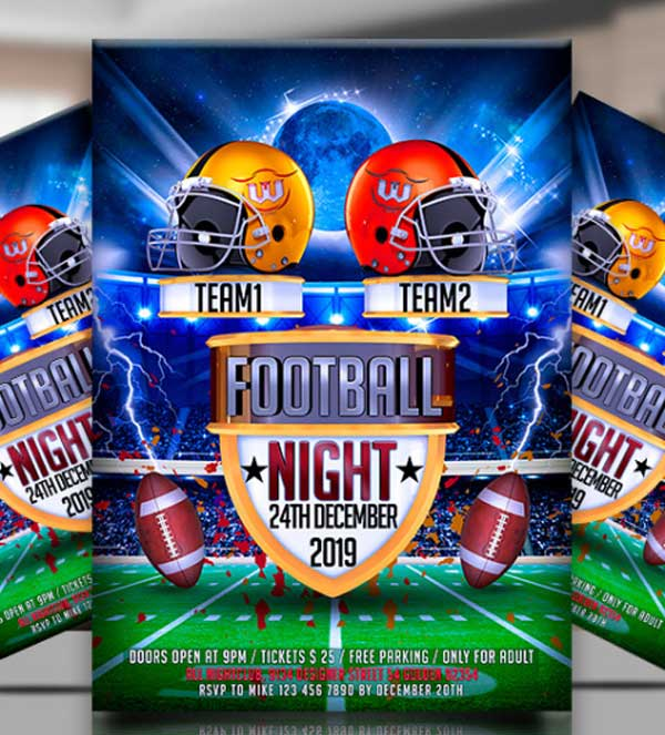 Printable College Football Flyer Template
