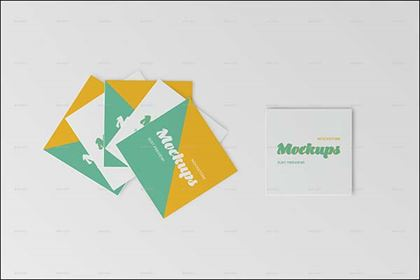 Professional Square Business Card Mockups