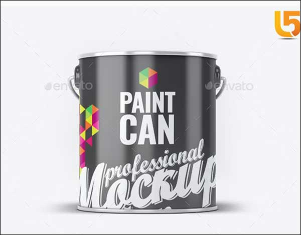 Realistic Paint Can Mock-Up