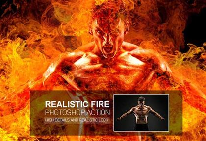 Realistic Fire Photoshop Action