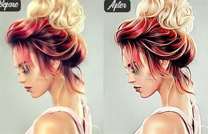 Realistic Vector Selective Painting Photoshop Action