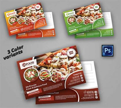 Restaurant Dinner Postcard Templates