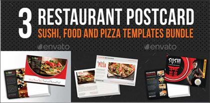 Restaurant Food Postcard Bundle