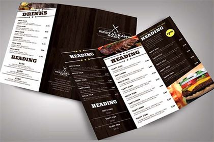Restaurant Menu Modern Brochure Template