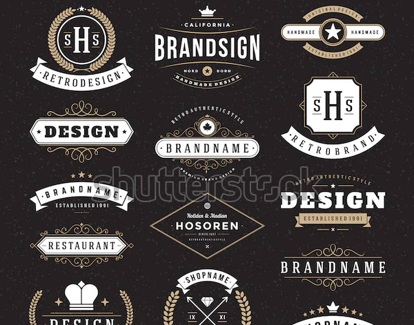 Retro Business Logo Templates