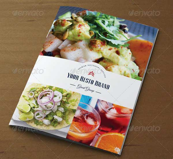 Retro Food Menu Brochure Template