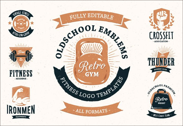 Retro Gym | Logo Templates