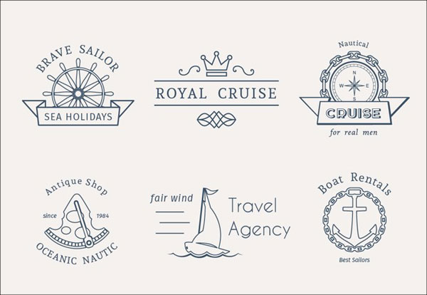 Retro Nautical Logo Templates