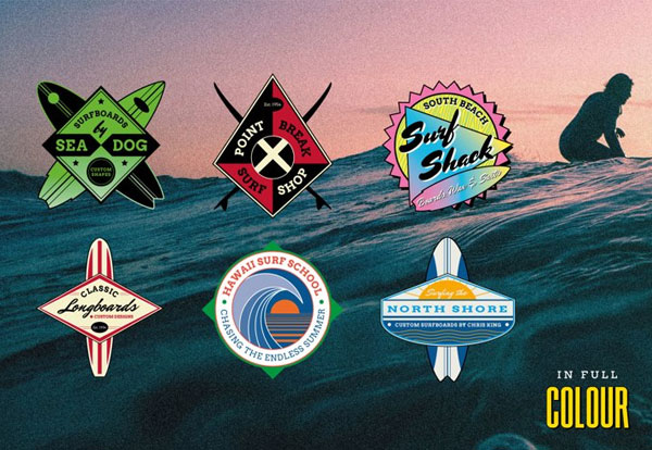 Retro Surf Logo Templates