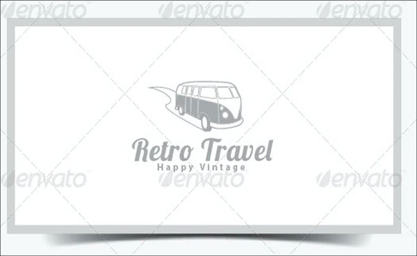 Retro Travel Logo Template