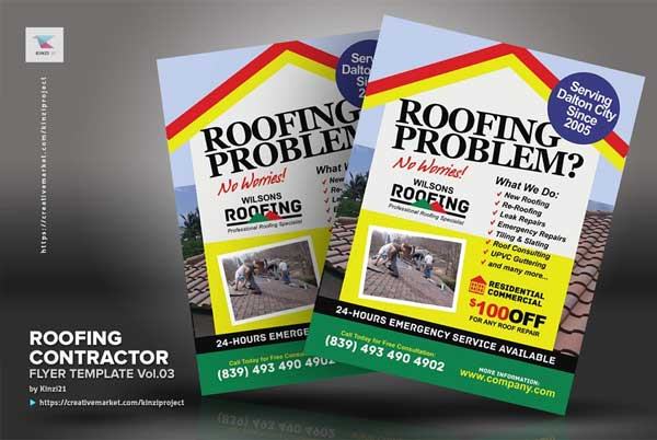 Roofing Solution Fully Editable Flyer Template