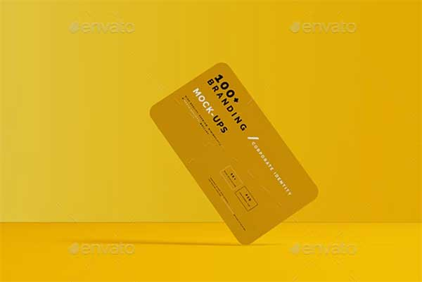 Rounded Corner Business Card Mockups